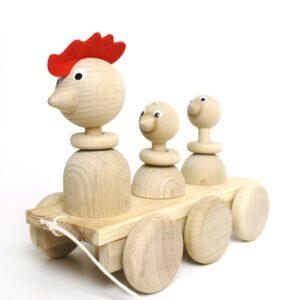 Trekfiguur familie kip